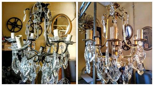 restauracion de arañas de luces antiguas