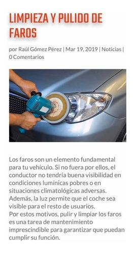 restauración  de farolas de automóvil profesional