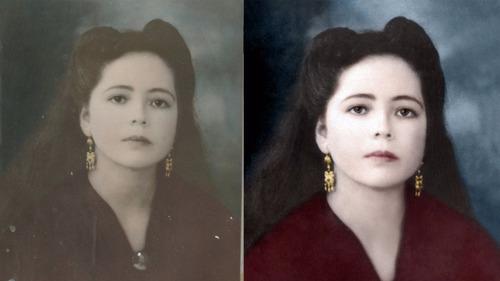 restauración de fotografías antiguas o dañadas. digital