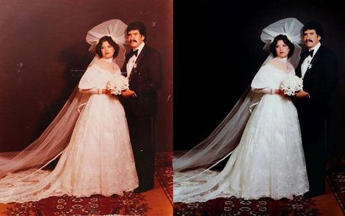 restauración de fotografías profesional, foto antigua