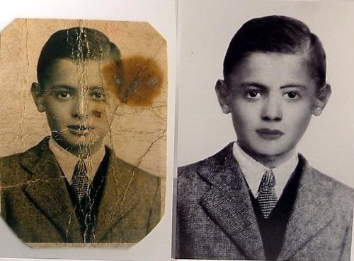 restauración de fotos digitalmente