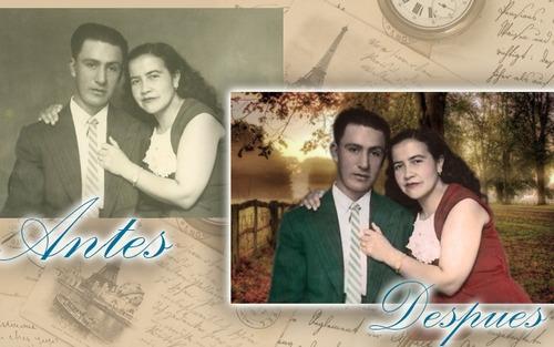restauracion de fotos foto retoque cambio de fondo recuerdos