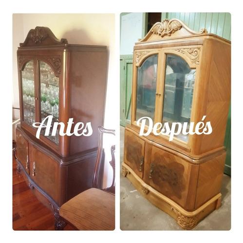 restauración de muebles antiguos, puertas, ventanas.