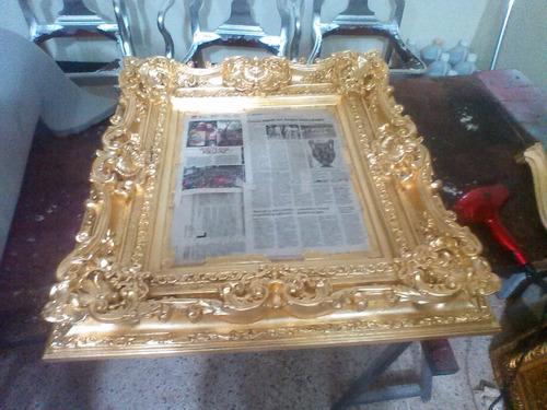 restauración de muebles antiguos y hojillado en oro y plata