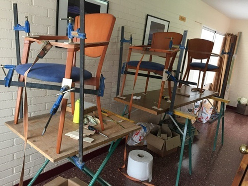 restauracion de muebles. patinas reencolado lustre de sillas