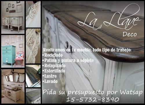 restauracion de muebles, reciclado, patinas, pinturas y mas!