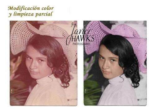 restauración de tus fotos maltratadas, color y montaje
