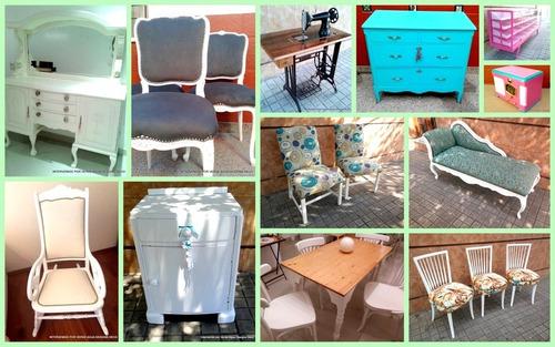 restauración e intervencion de muebles tapicería y laqueado