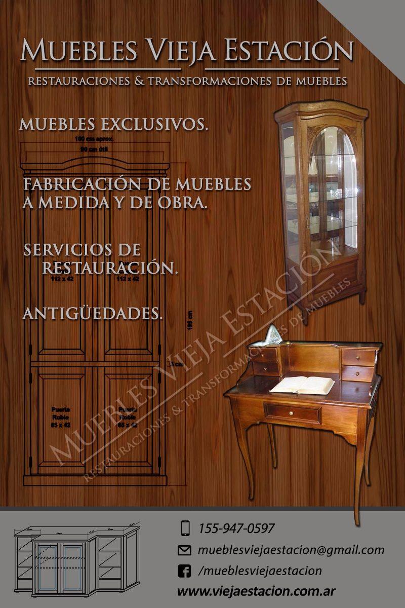 Restauraci N Fabricaci N De Muebles De Estilo Antig Edades En  # Muebles Leandro