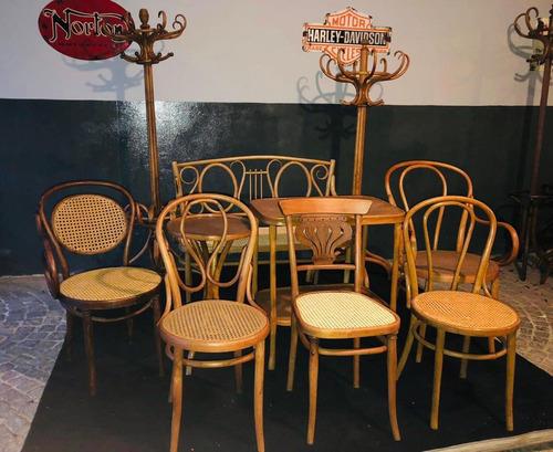 restauracion muebles thonet percheros sillones sillas mesas