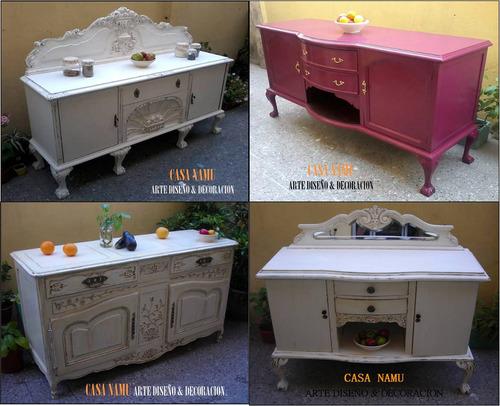 restauración patinados decapados laqueados muebles casa namu