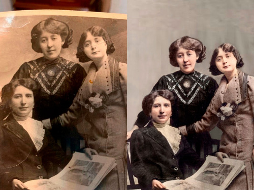 restauracion y colorizacion de fotos antiguas