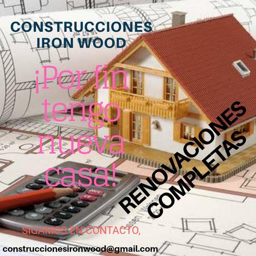 restauraciones de casas, obras nuevas.
