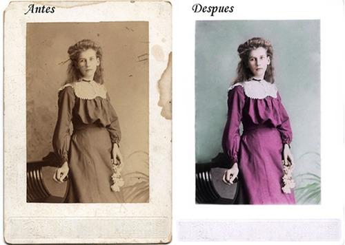 restauraciones de fotografías dañadas o antiguas