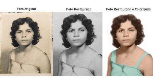 restauração de fotos danificadas