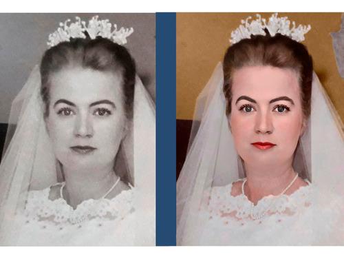 restauração e colorização de fotos ( animação brinde)