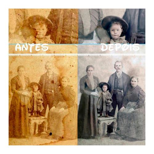 restauração  foto antiga remoção fundo  limpeza cores pb