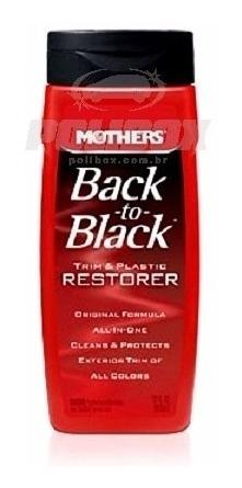restaurador de plasticos back to black 355ml mothers back-to