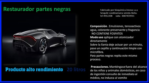 restaurador partes negras automotriz