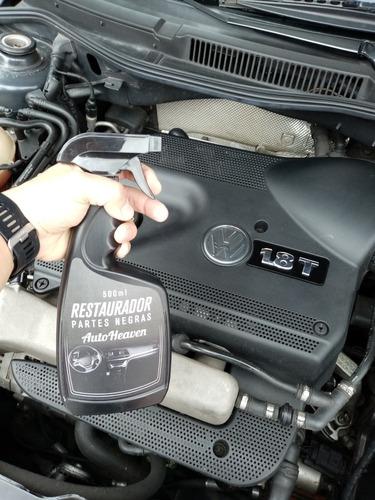 restaurador partes negras carro o moto autoheaven 500 ml