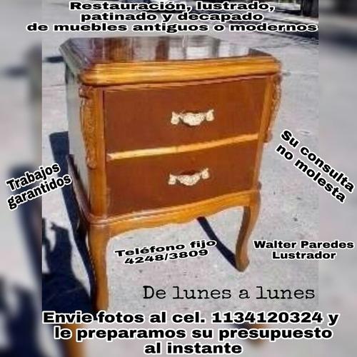 restaurador y lustrador de muebles.