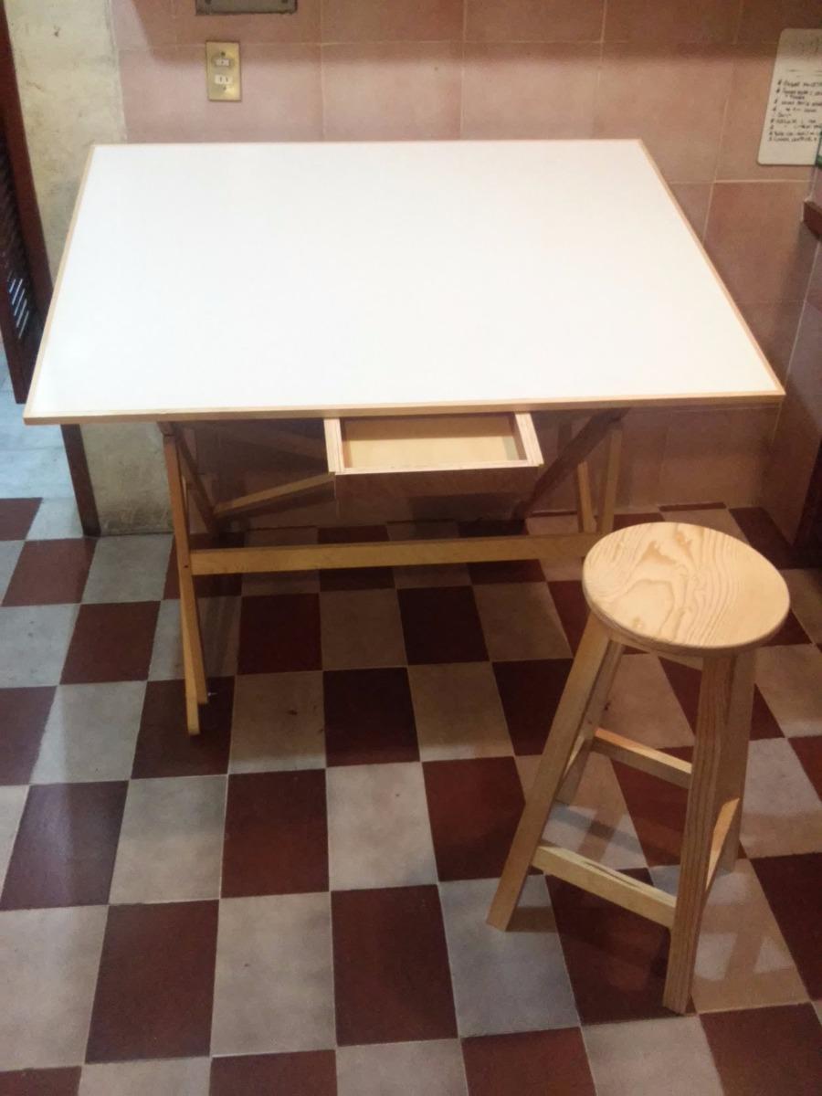 Restirador con banco profesional de madera 60x90 - Mesas de arquitecto ...