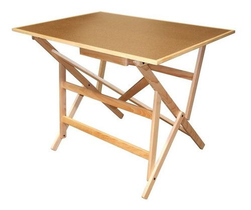 restirador mesa de dibujo de madera con cajon