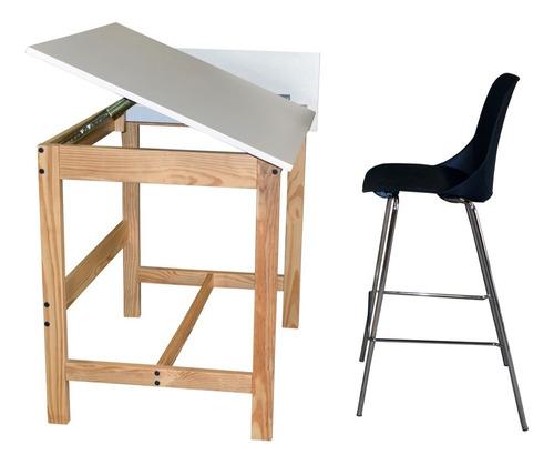 restirador mesa de dibujo de madera con compartimientos