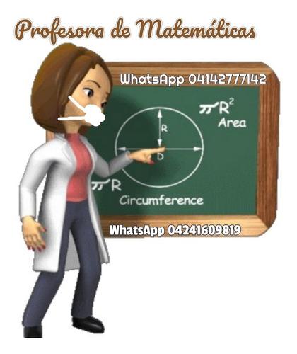 resuelvo ejercicios de matemática, tareas y trabajos, clases