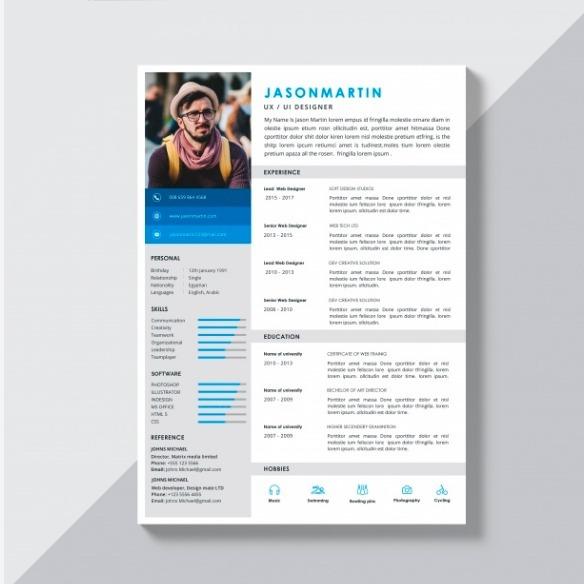 Resumen Curricular Hoja De Vida Cv Curriculum Vitae S 25 00