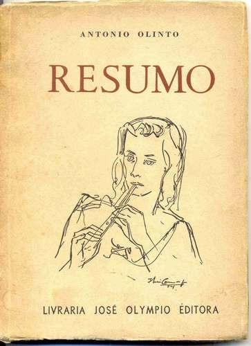 resumo - antonio olinto - 1954 - 1a. edição