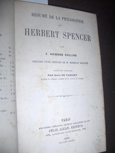 resumo da filosofia de herbert spencer 1891 em frances