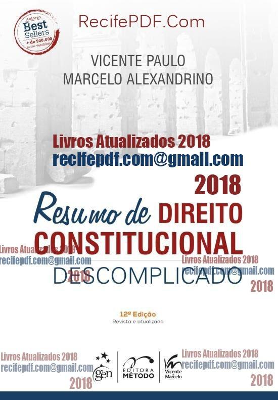 livro direito constitucional descomplicado pdf