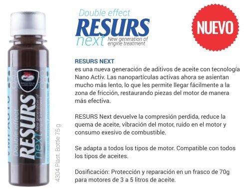 resurs next fórmula mejorada remetalizante compresión motor