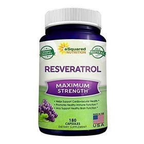 Resveratrol 100% Puro 1000 Mg 180 Cápsulas