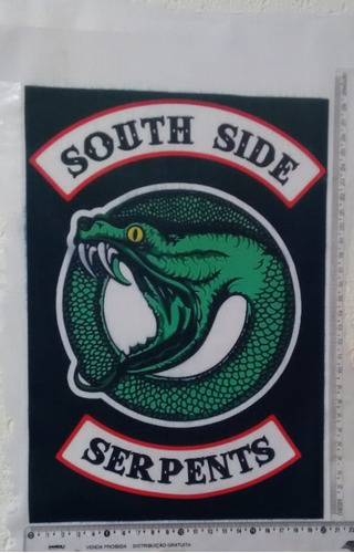 retalho southside serpents riverdale logo para costurar
