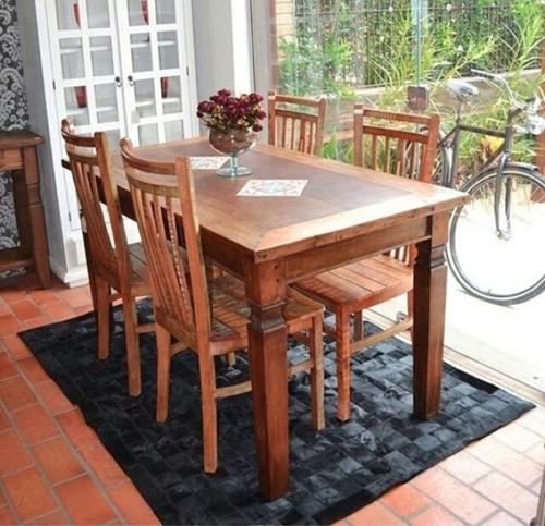 retangular madeira mesa jantar
