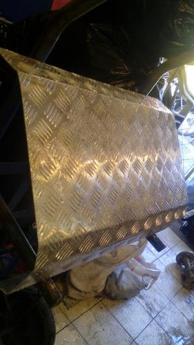 retazo de plancha de aluminio diamantada 64x27cms