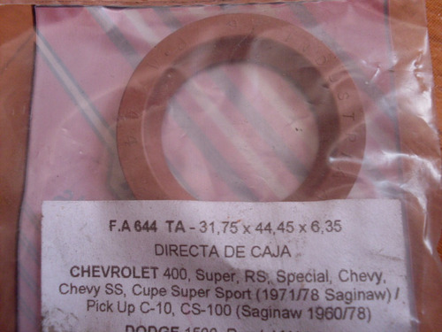 reten de directa de ford falcon chevy 400 c 10 fairlane 1500
