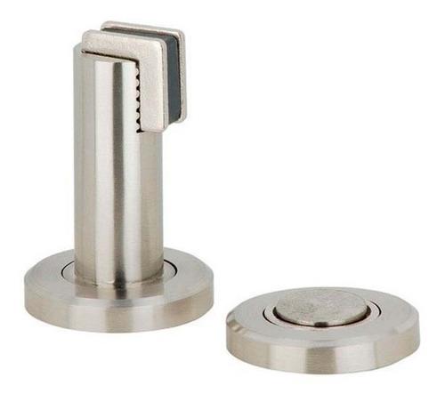 reten y tope magnetico de piso pared para puerta acero mds17