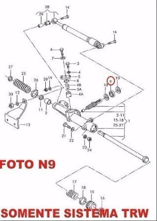 retentor caixa direção hidráulica trw vw gol parati saveiro
