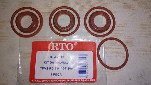 retentor e orings (6 peças) reparo da valvula ypvs rd 350