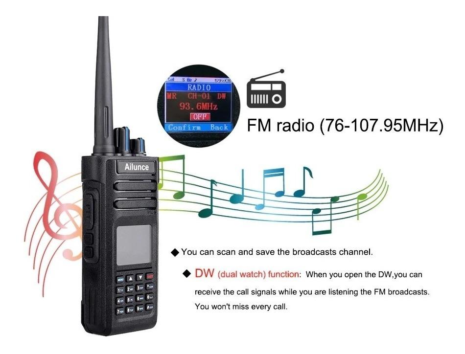Retevis Ailunce Hd1 Gps Dmr Digital Dual Band 10 Watts Ip67