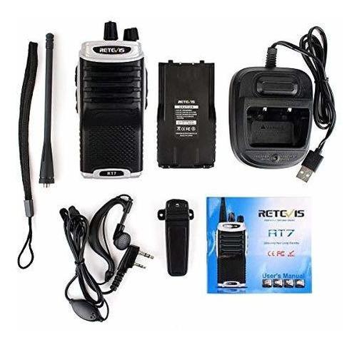 retevis rt7 walkie talkies radio bidireccional recargable
