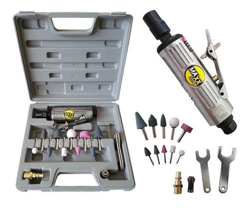 retífica pneumática mini esmeril de ar com maleta e kit