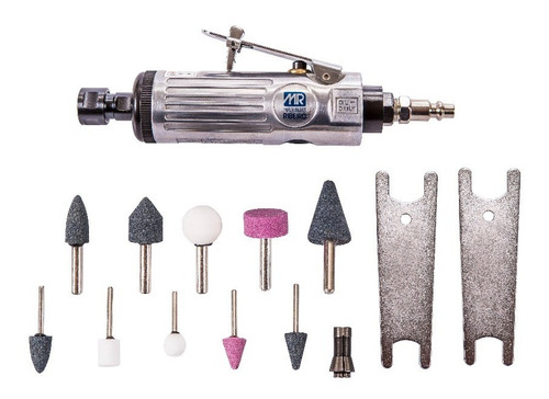 retifica pneumática reta com acessórios - máquinas ribeiro