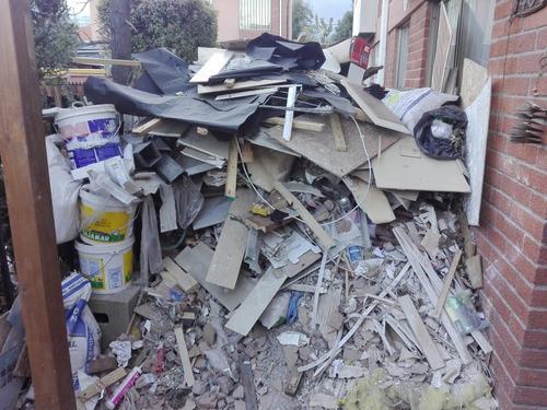 retiro de escombros de todo tipo particulares y empresas