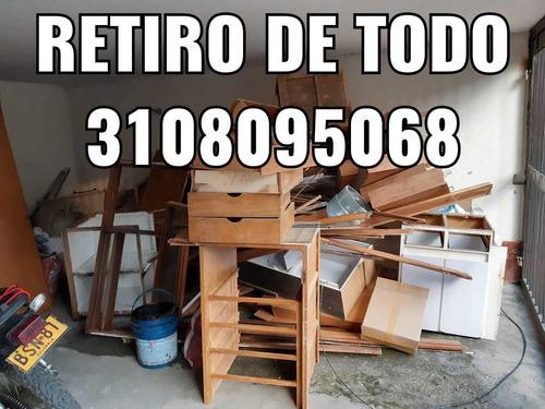 retiro escombro basura madera pisos