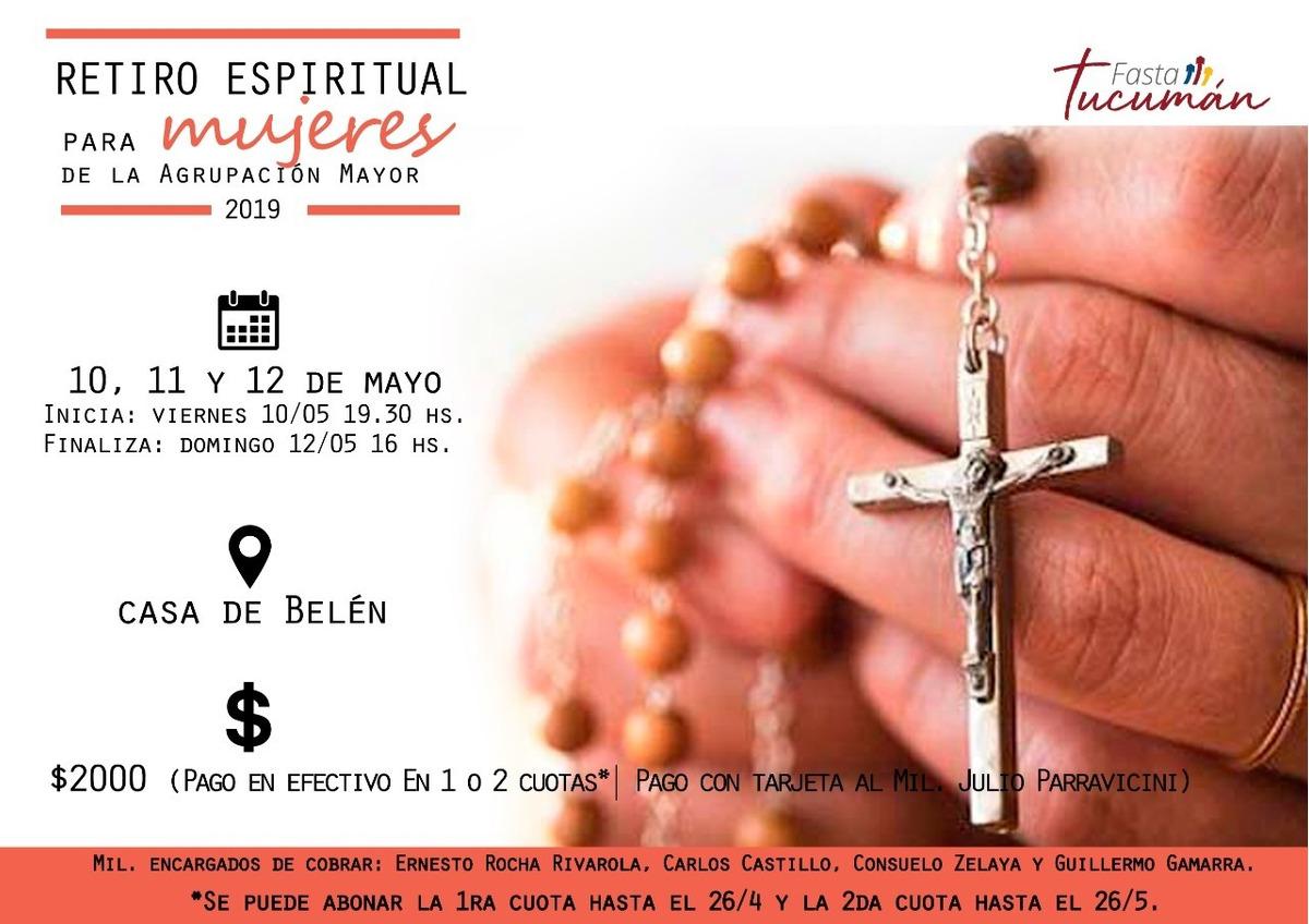 Retiro Espiritual 2019 Mujeres 2º Cuota En Mercado Libre