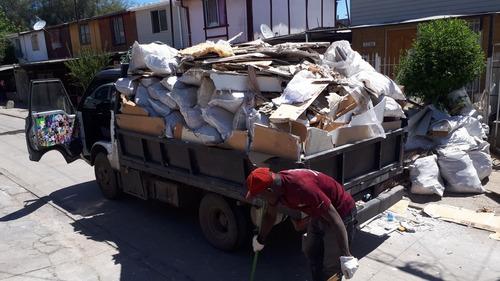 retiro y limpieza de escombros, todas las comunas stgo
